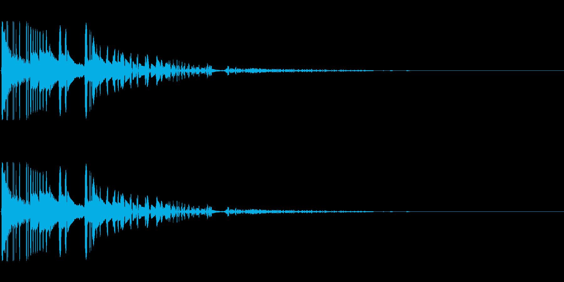 ドサッ(落下や倒れる衝撃音)03の再生済みの波形
