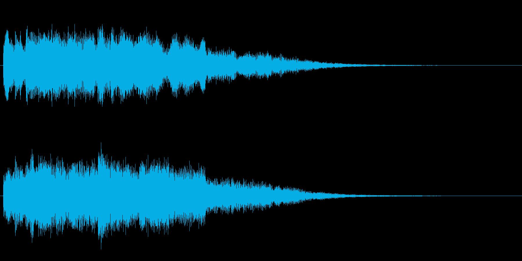ほのぼのふんわりジングルの再生済みの波形
