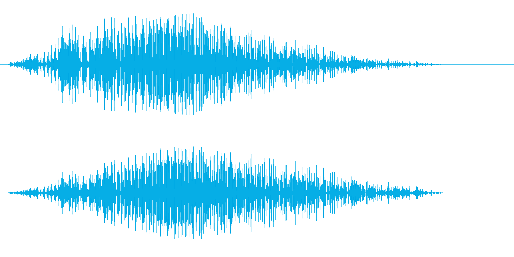 ホワーン(印象的な決定音)の再生済みの波形