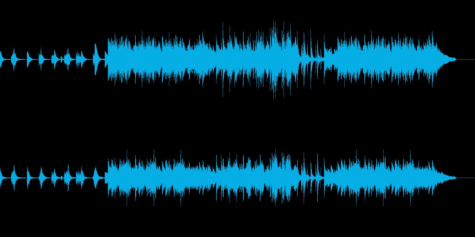 どことなく切ないピアノソロ曲の再生済みの波形