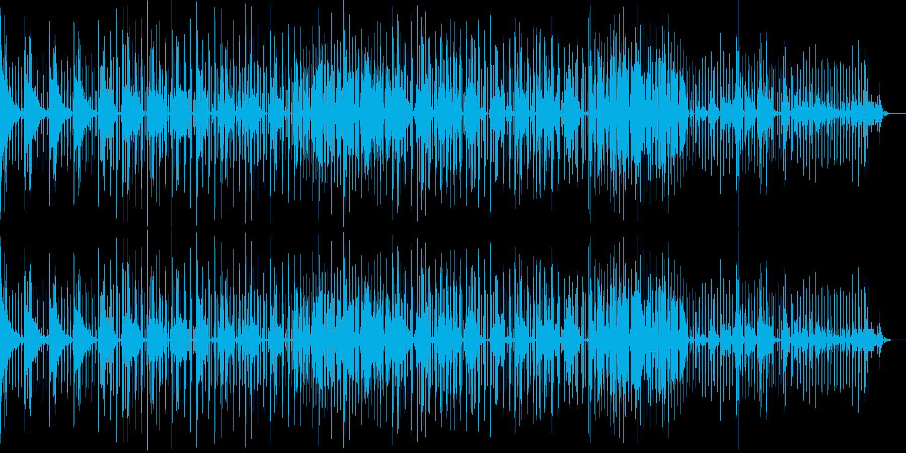 クールなミドルテンポの裏打ちビートの再生済みの波形