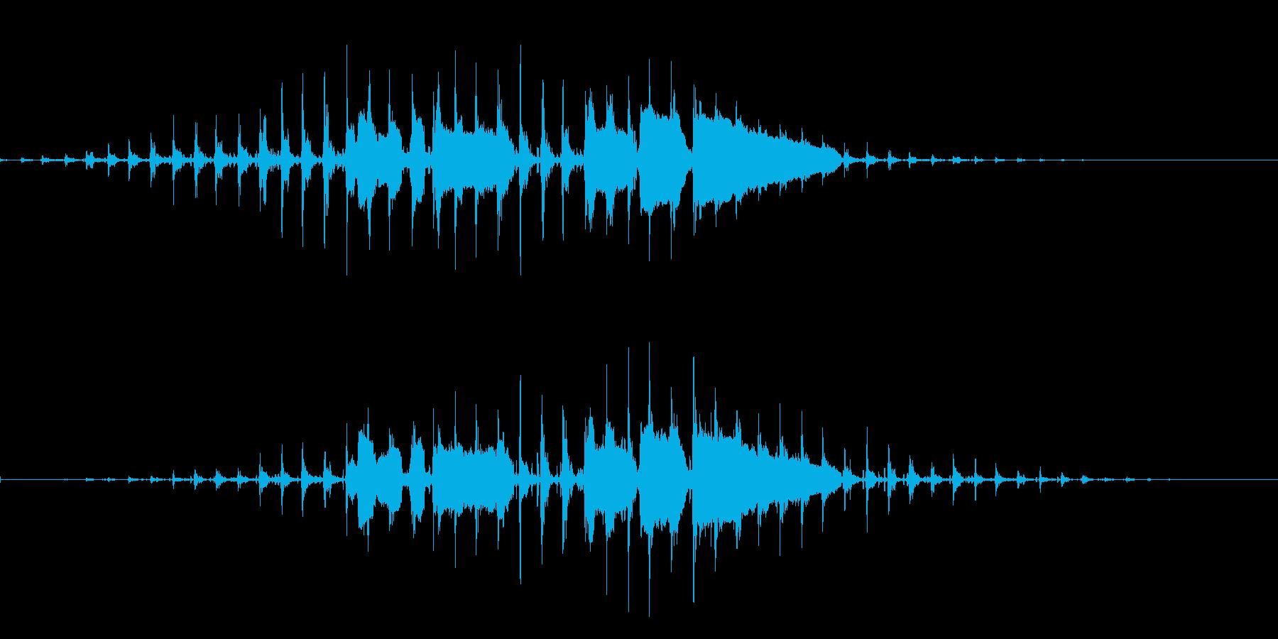 「メリークリスマス ホゥホゥホゥ」の再生済みの波形