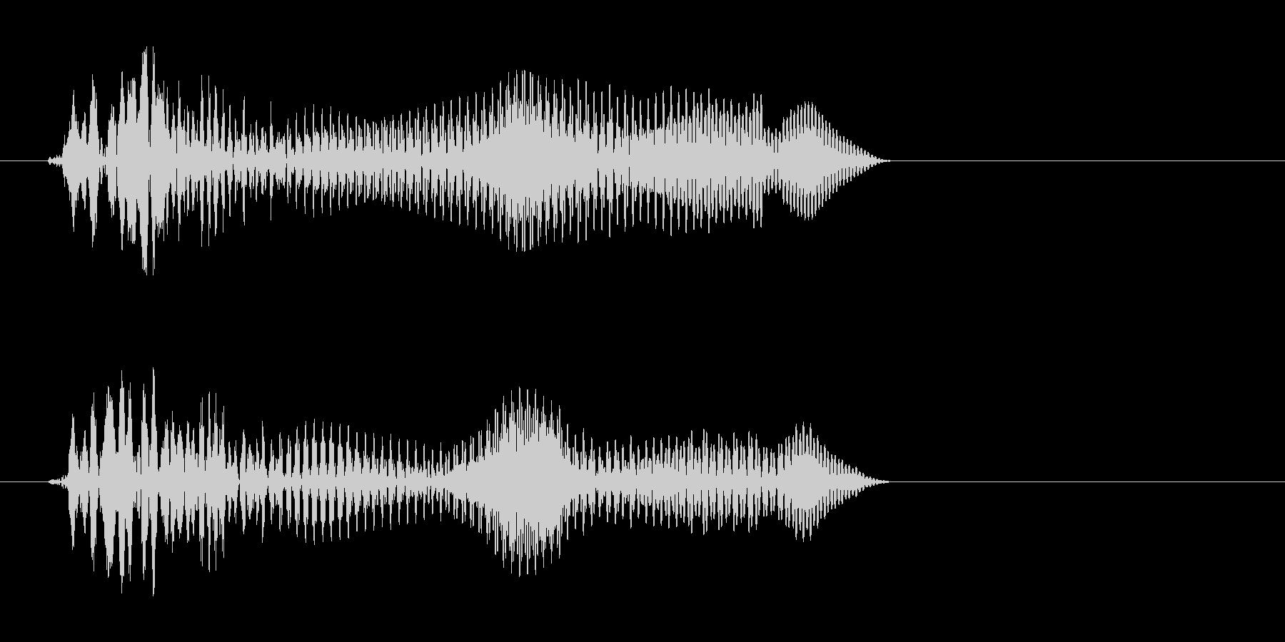 トンッ(シンプルな効果音)の未再生の波形