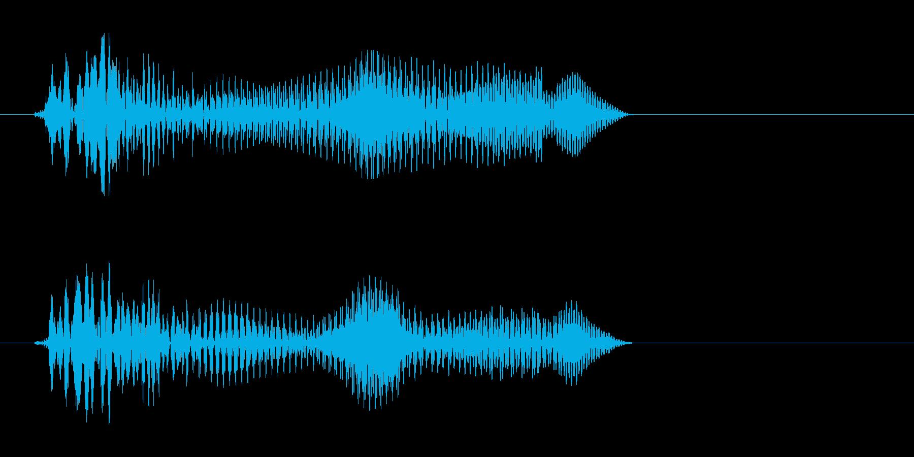 トンッ(シンプルな効果音)の再生済みの波形