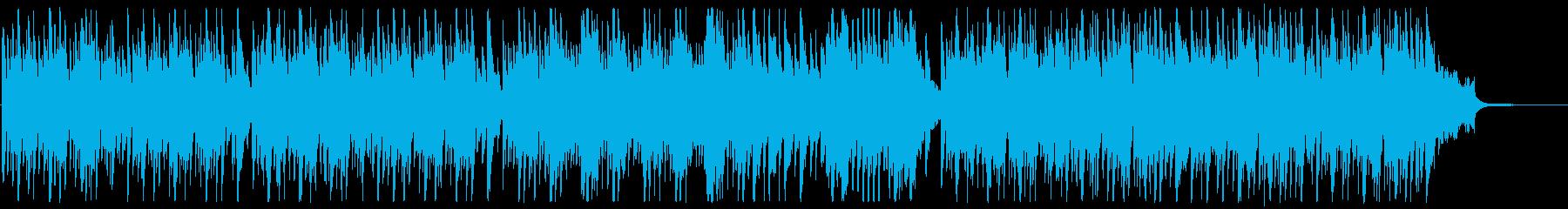 ほのぼの軽快なポップスの再生済みの波形
