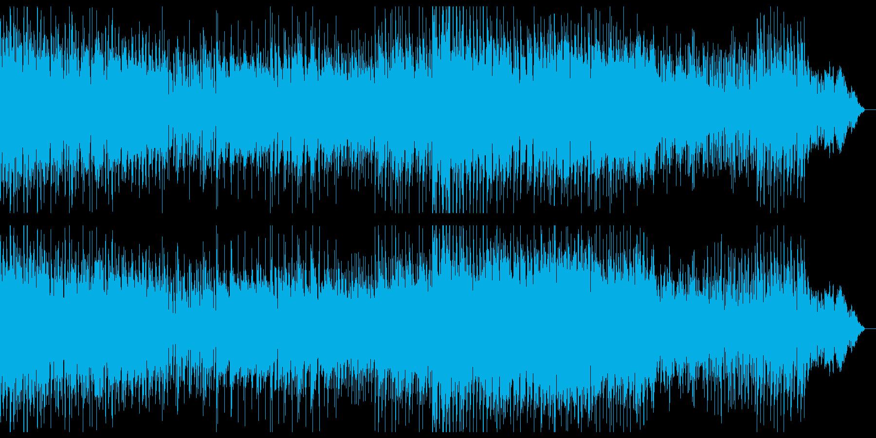 ダークで陰鬱なミニマルテクノの再生済みの波形