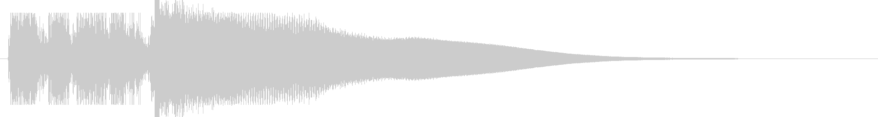 買った音、売った音(レジスター)02の未再生の波形