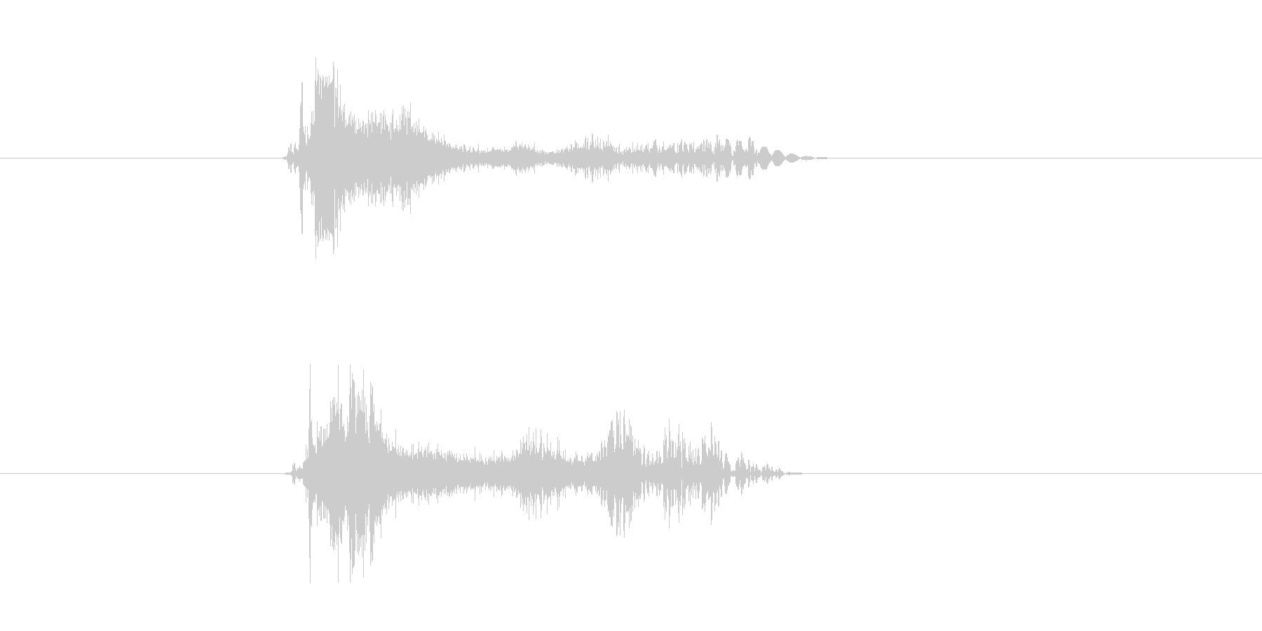ビシューン(シューティング、ビーム)の未再生の波形