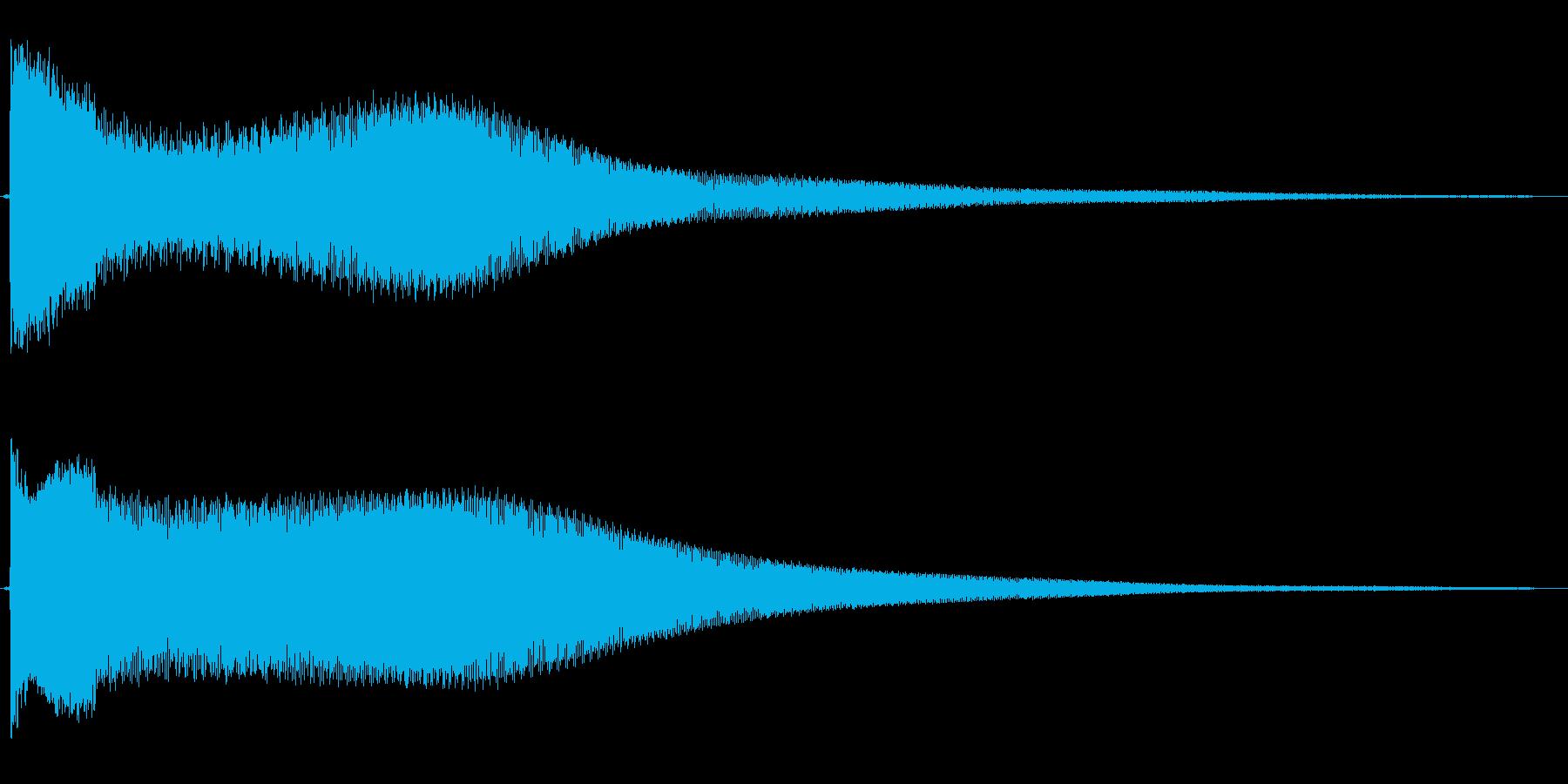 パァ〜ァ〜ァ〜ン(攻撃を受けた時の音)の再生済みの波形