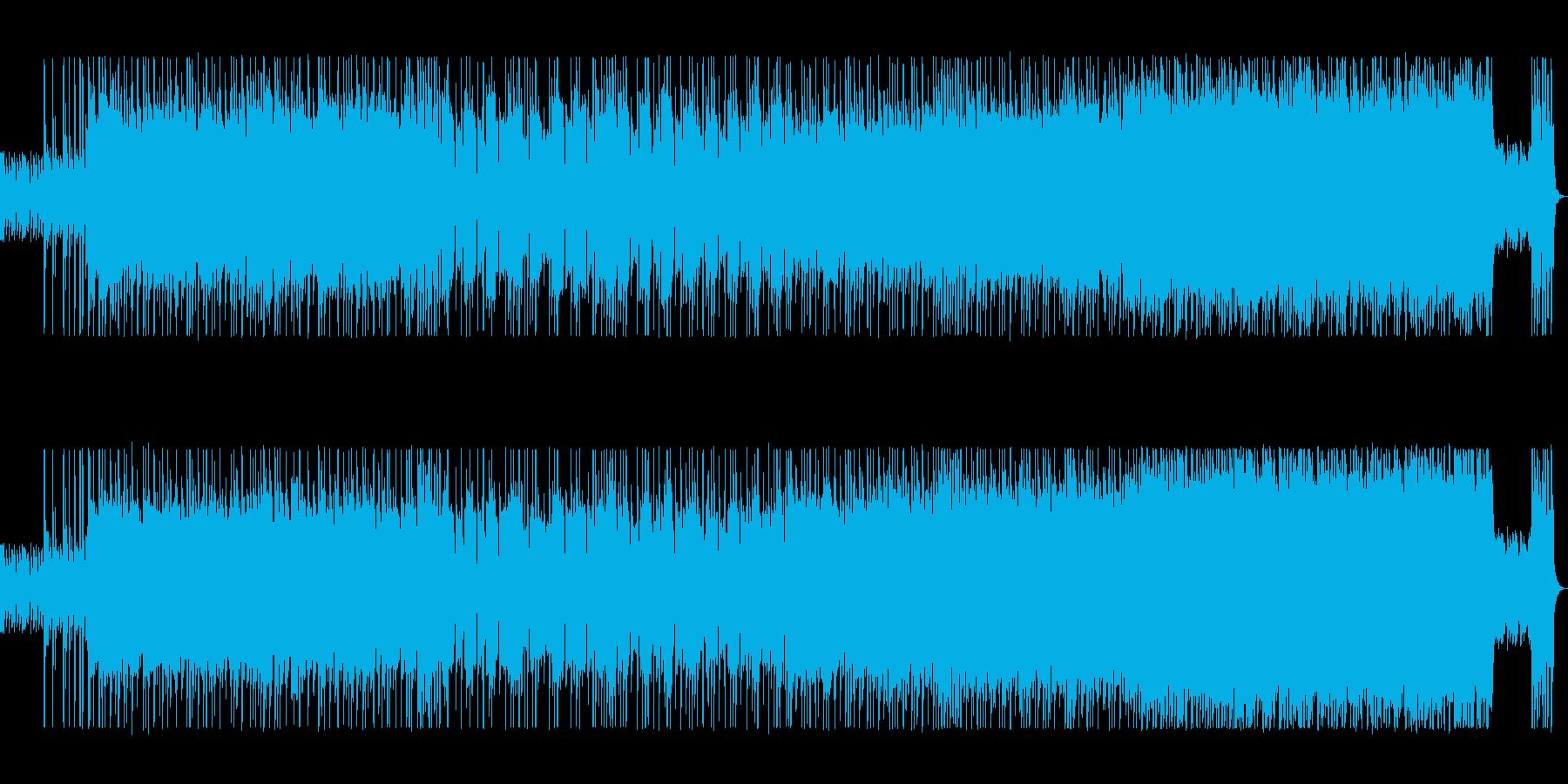 軽快なロック、気分が明るく元気になる曲の再生済みの波形
