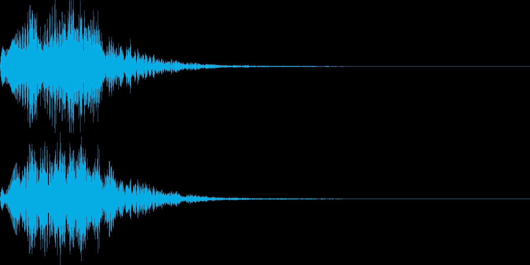 場面転換01の再生済みの波形
