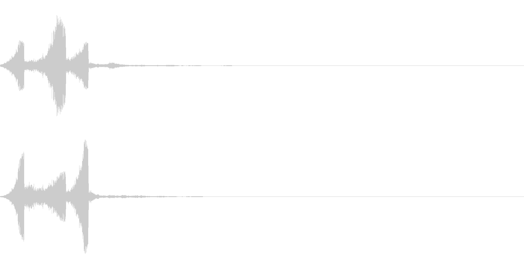 場面転換シャシャッ スタイリッシュ効果音の未再生の波形