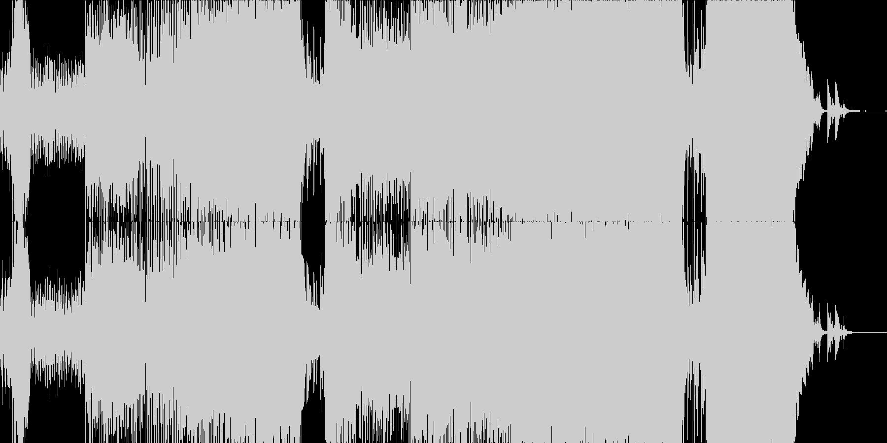 感動系ロックバラード・インスト版の未再生の波形