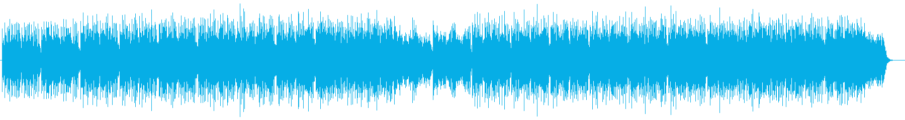 落ち着いたトーンのシンセサイザーの曲の再生済みの波形