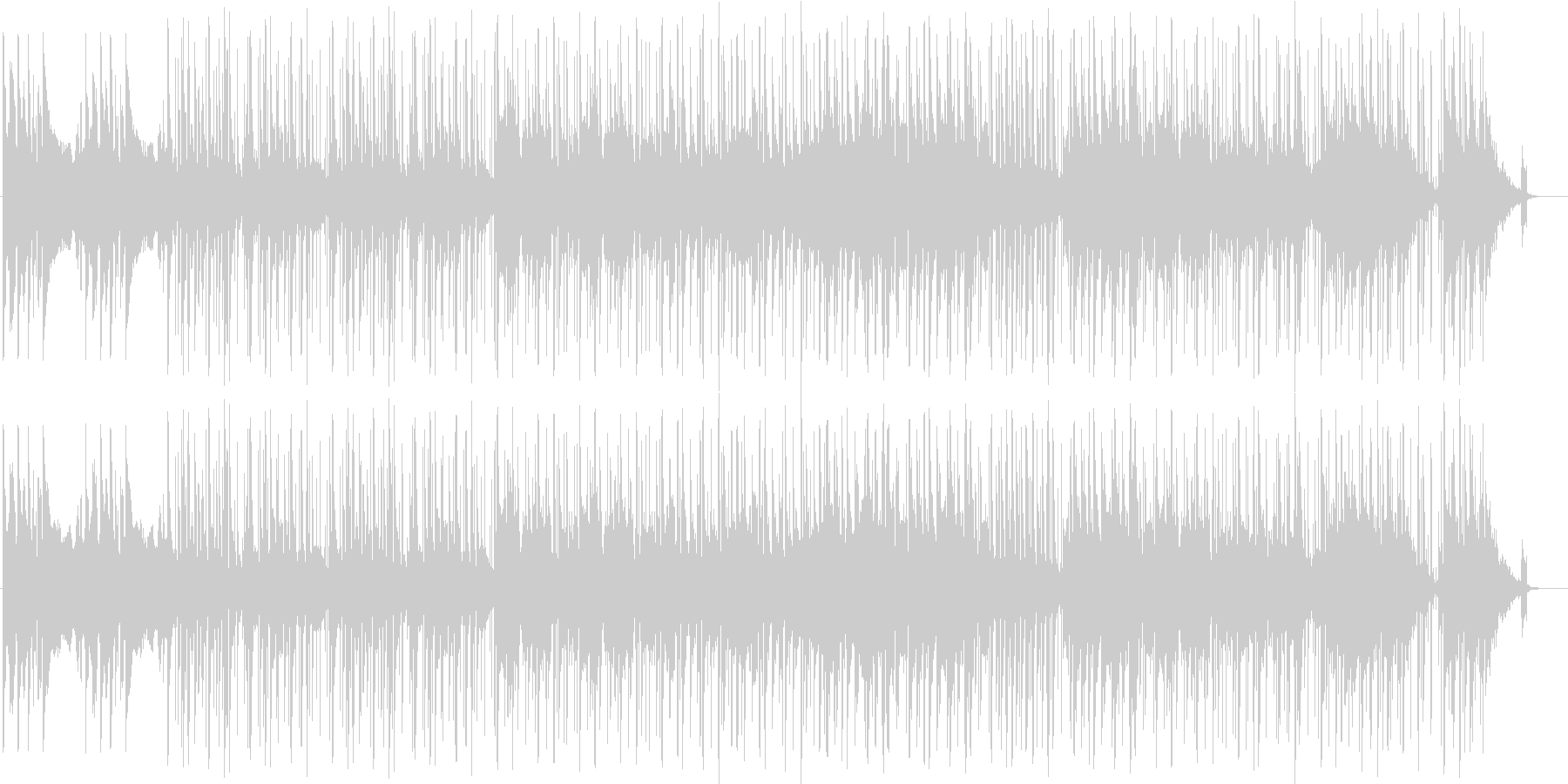 インド風BGMの未再生の波形