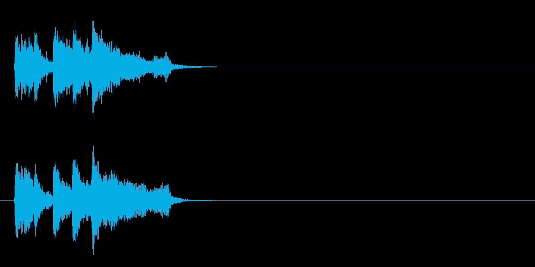 場面転換用ジングルの再生済みの波形