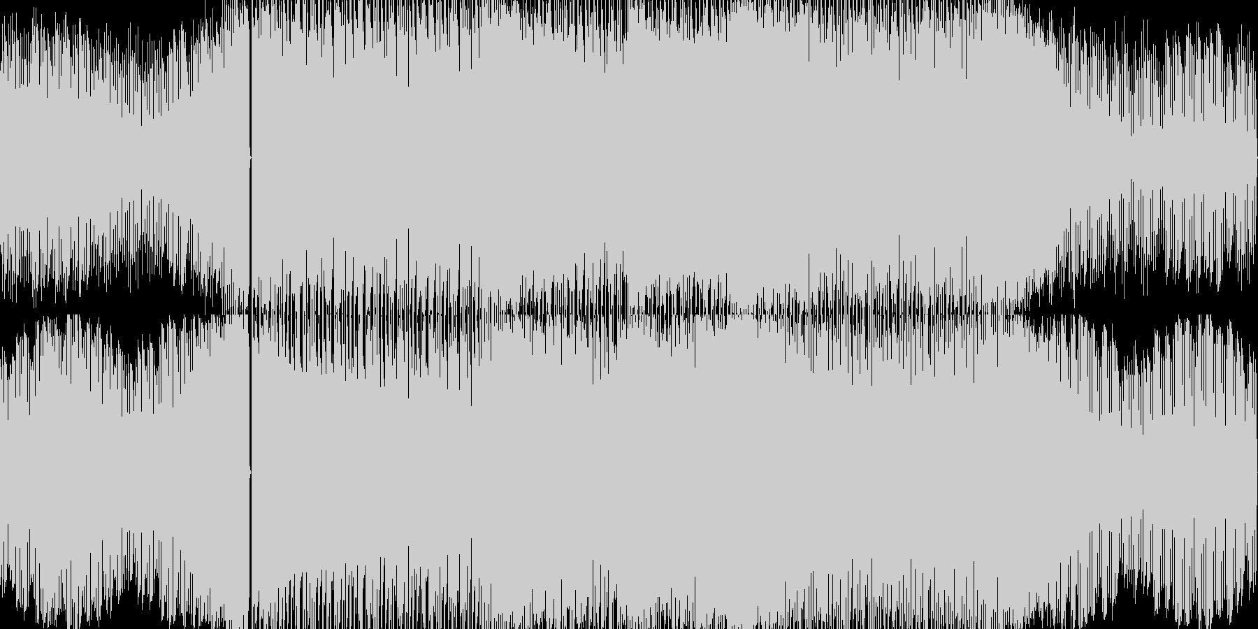 怪しい雰囲気の疾走感あるテクノ。無限ル…の未再生の波形