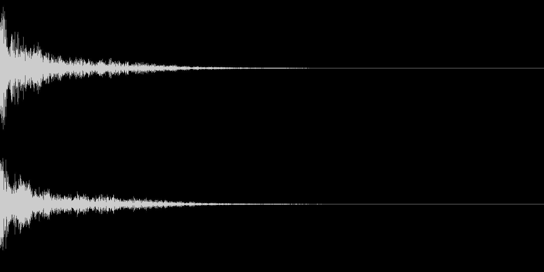 ドーン!↑ティンパニーピッチ操作リバーブの未再生の波形