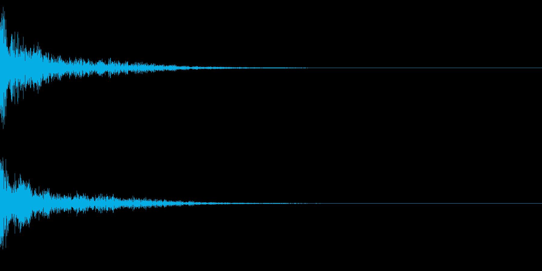 ドーン!↑ティンパニーピッチ操作リバーブの再生済みの波形