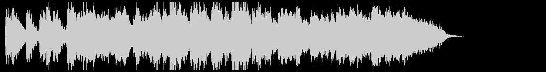 トランペットのジャズ風ジングルの未再生の波形
