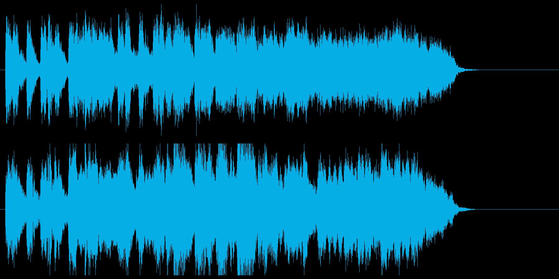 トランペットのジャズ風ジングルの再生済みの波形