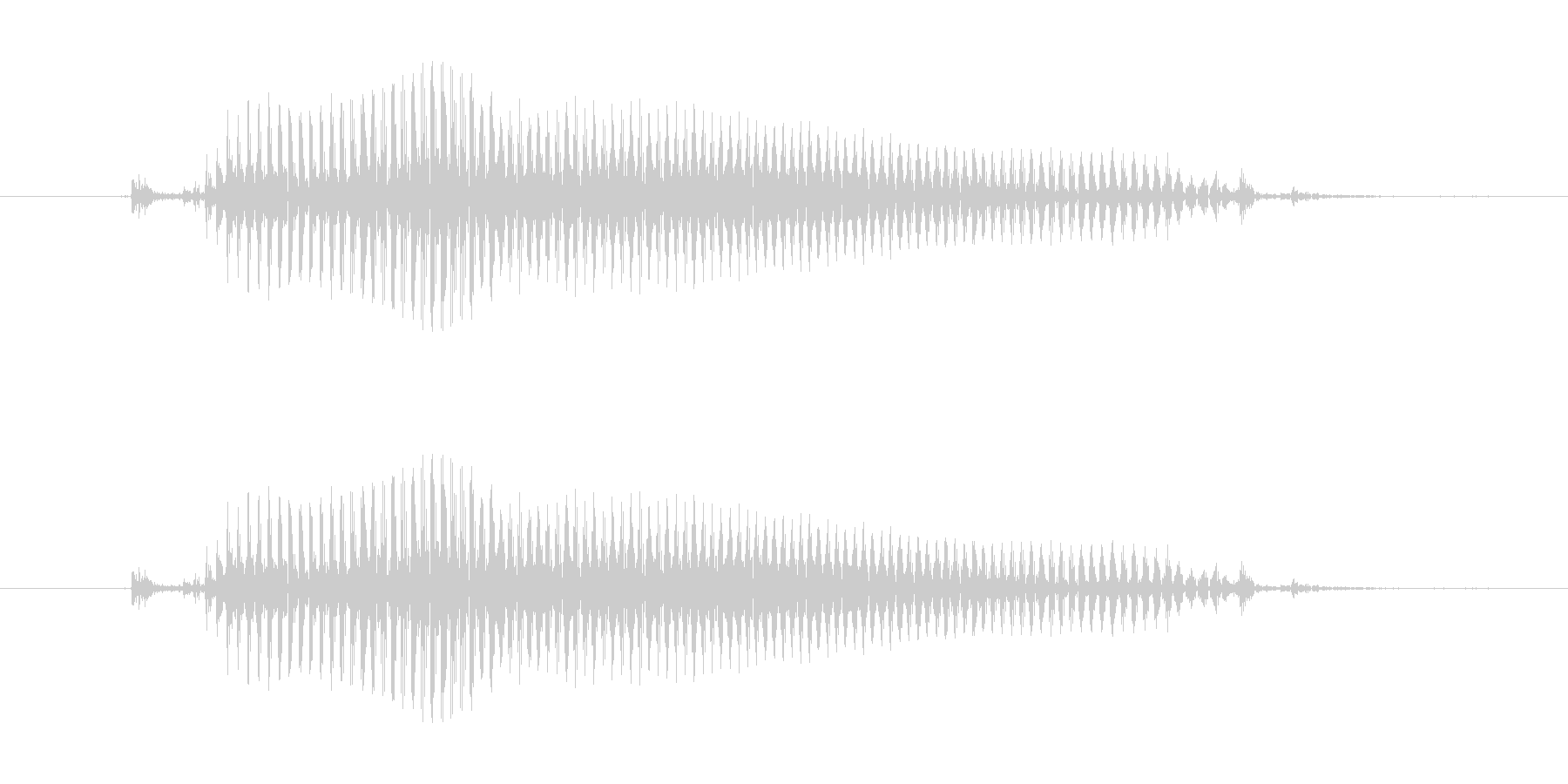 ゴー!(5としてもGo!としても使える)の未再生の波形