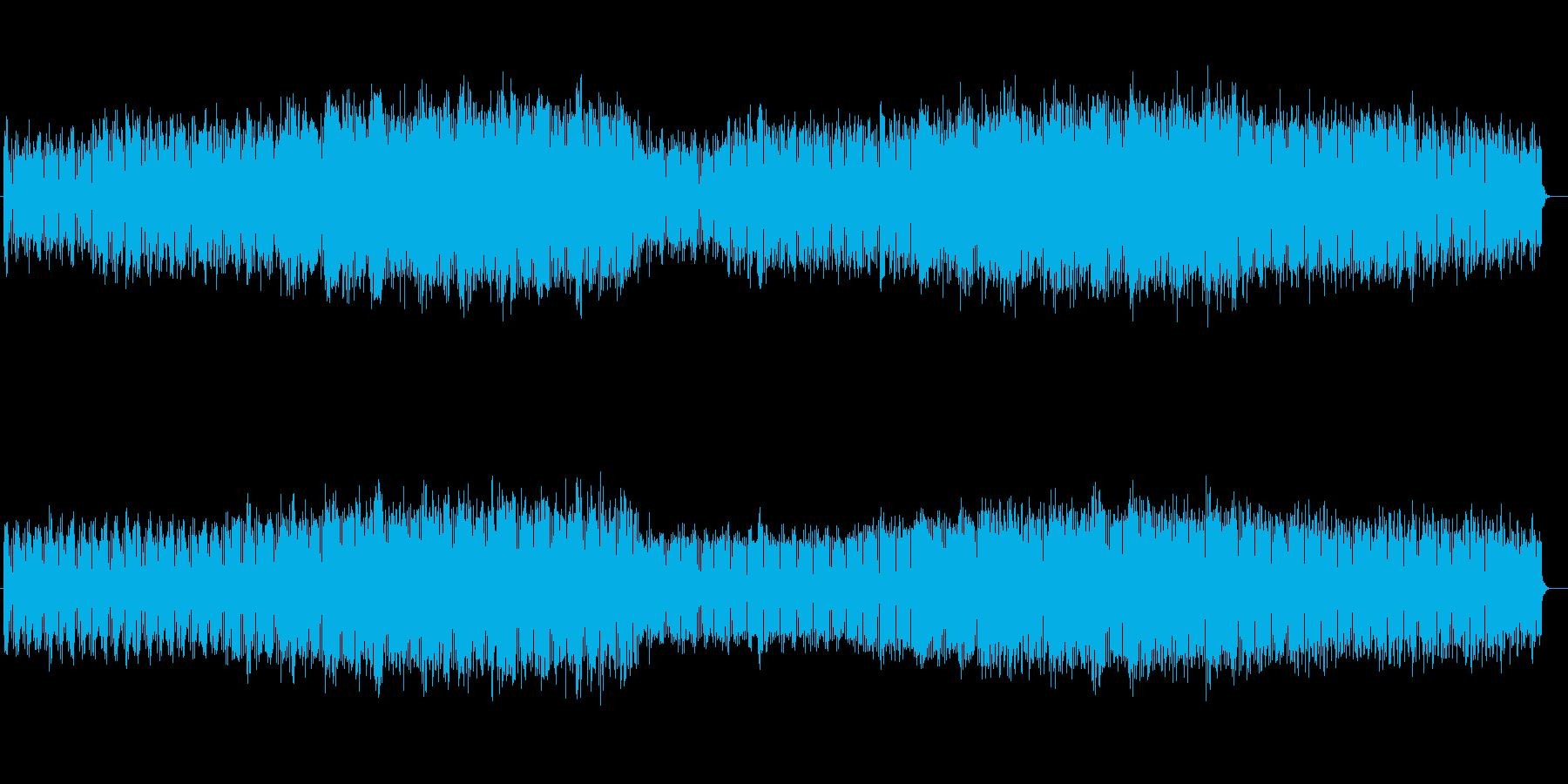 近未来シンセサイザーテクノ風サウンドの再生済みの波形