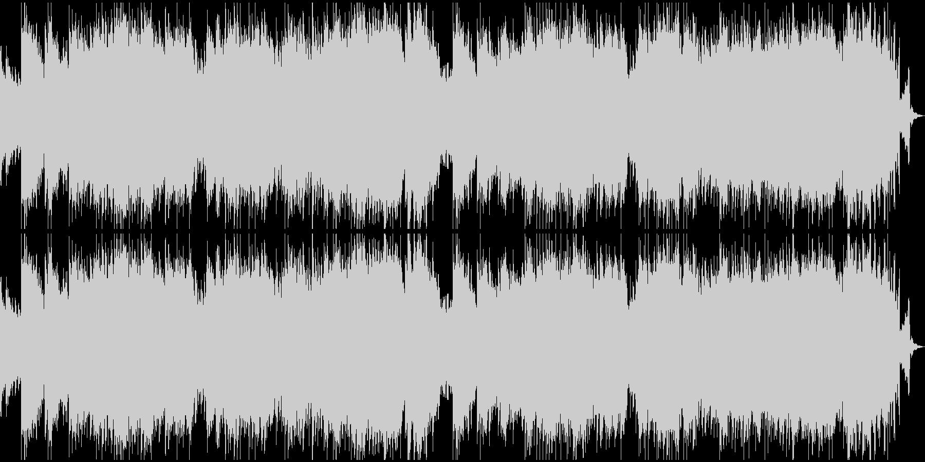 時を盛るのぼるようなピアノと特殊音響効果の未再生の波形
