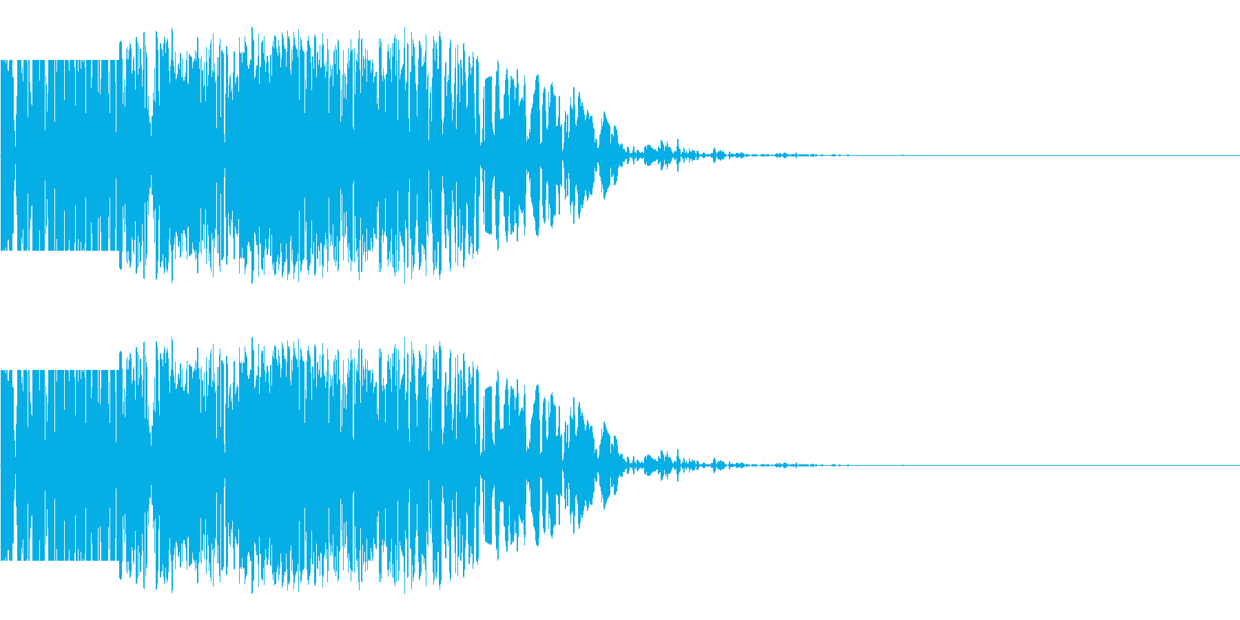 ズシン(重い足音系)03の再生済みの波形