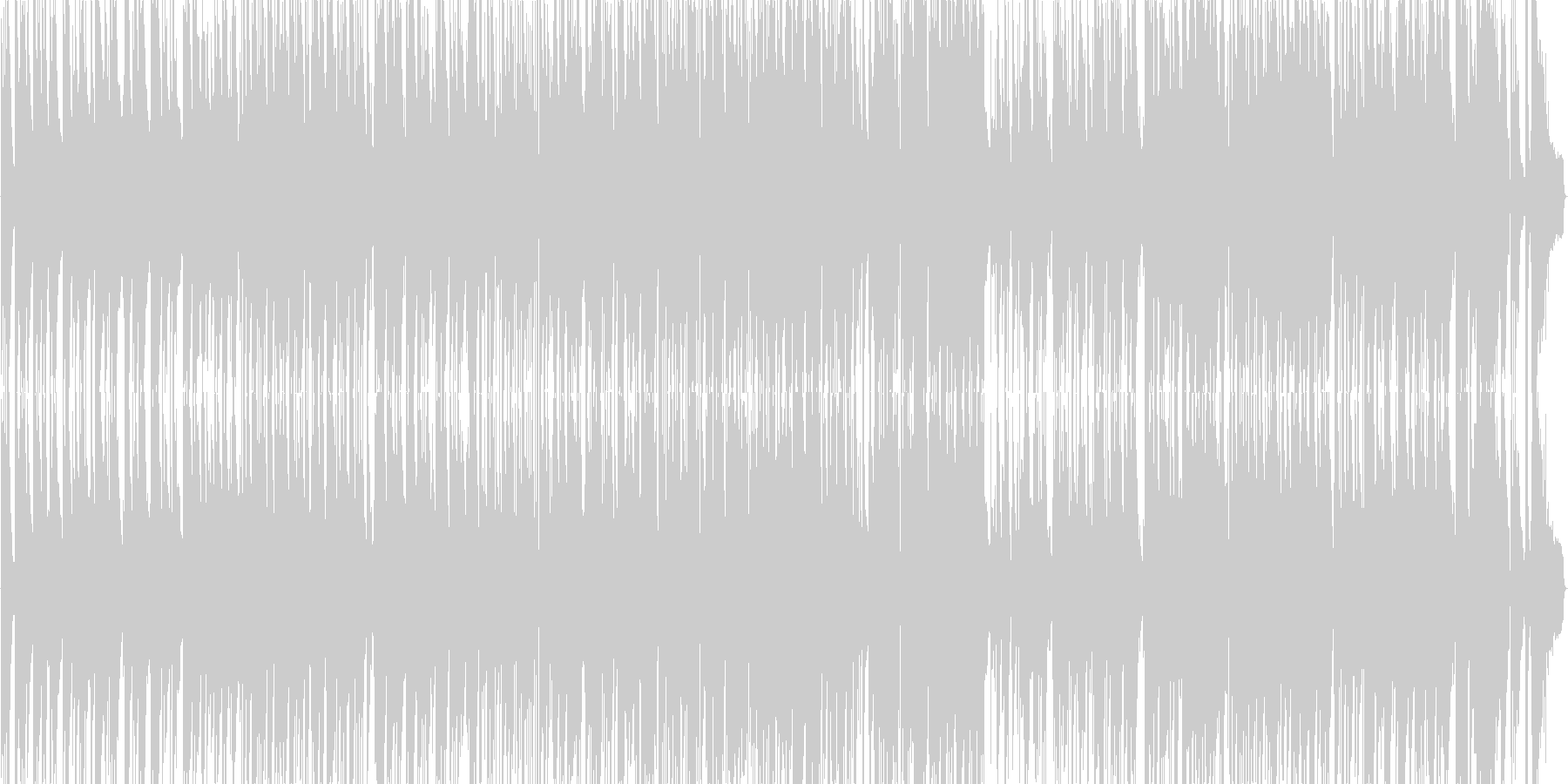 ガーシュウィンのピアノトリオバラードの未再生の波形