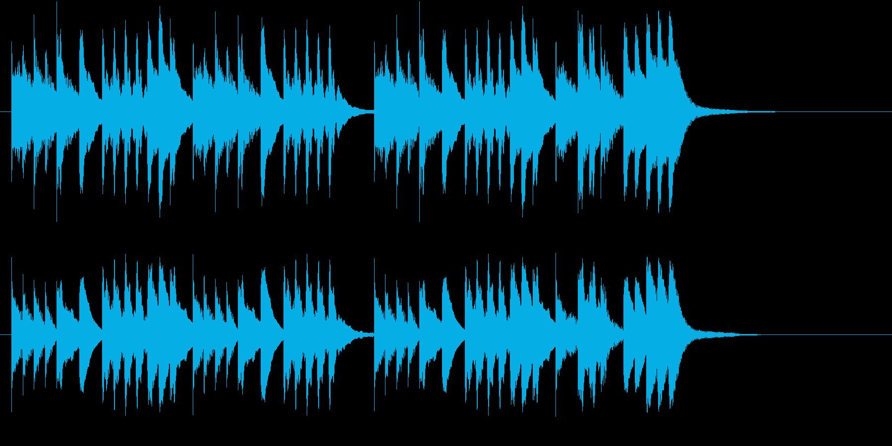 木琴の音で明るい感じのジングルの再生済みの波形
