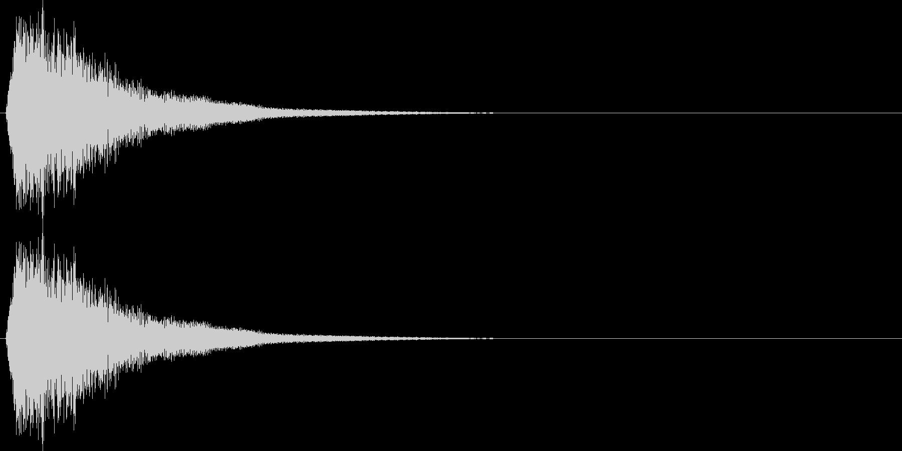 フライパン叩く音の未再生の波形