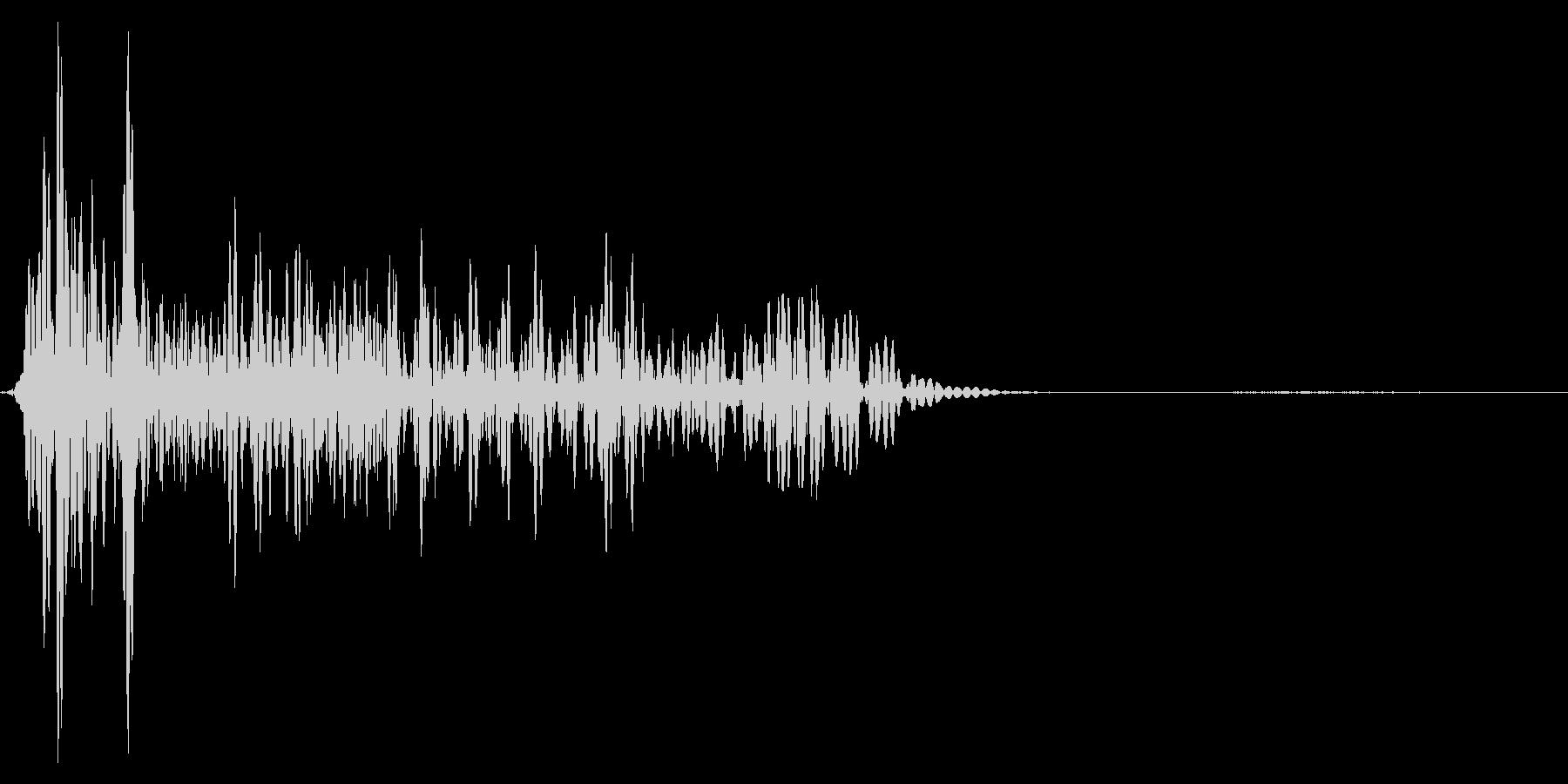 ゲーム掛け声ゾンビ1うめき1の未再生の波形