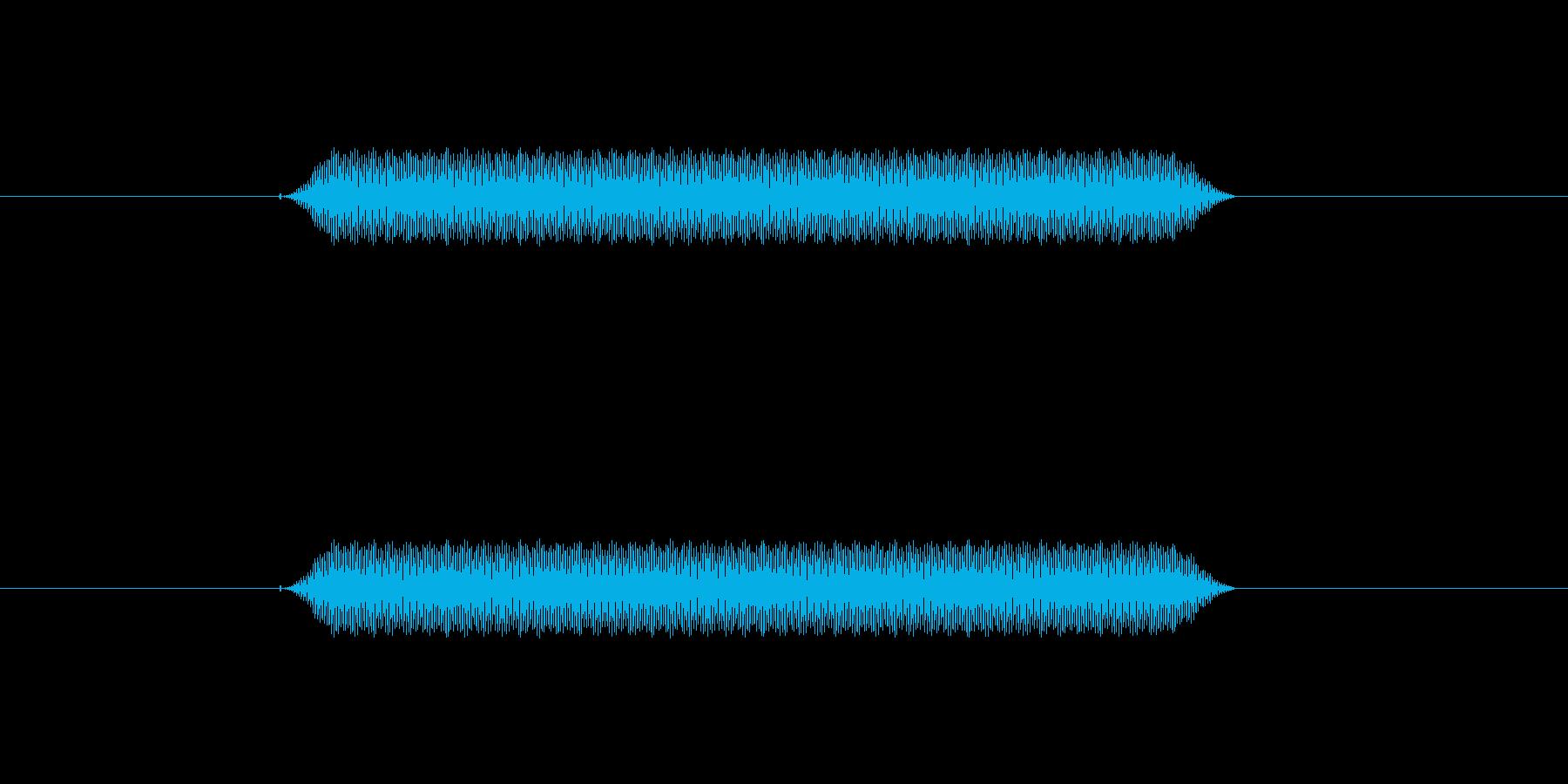 【汎用・セリフ音等】ピッ(高)の再生済みの波形