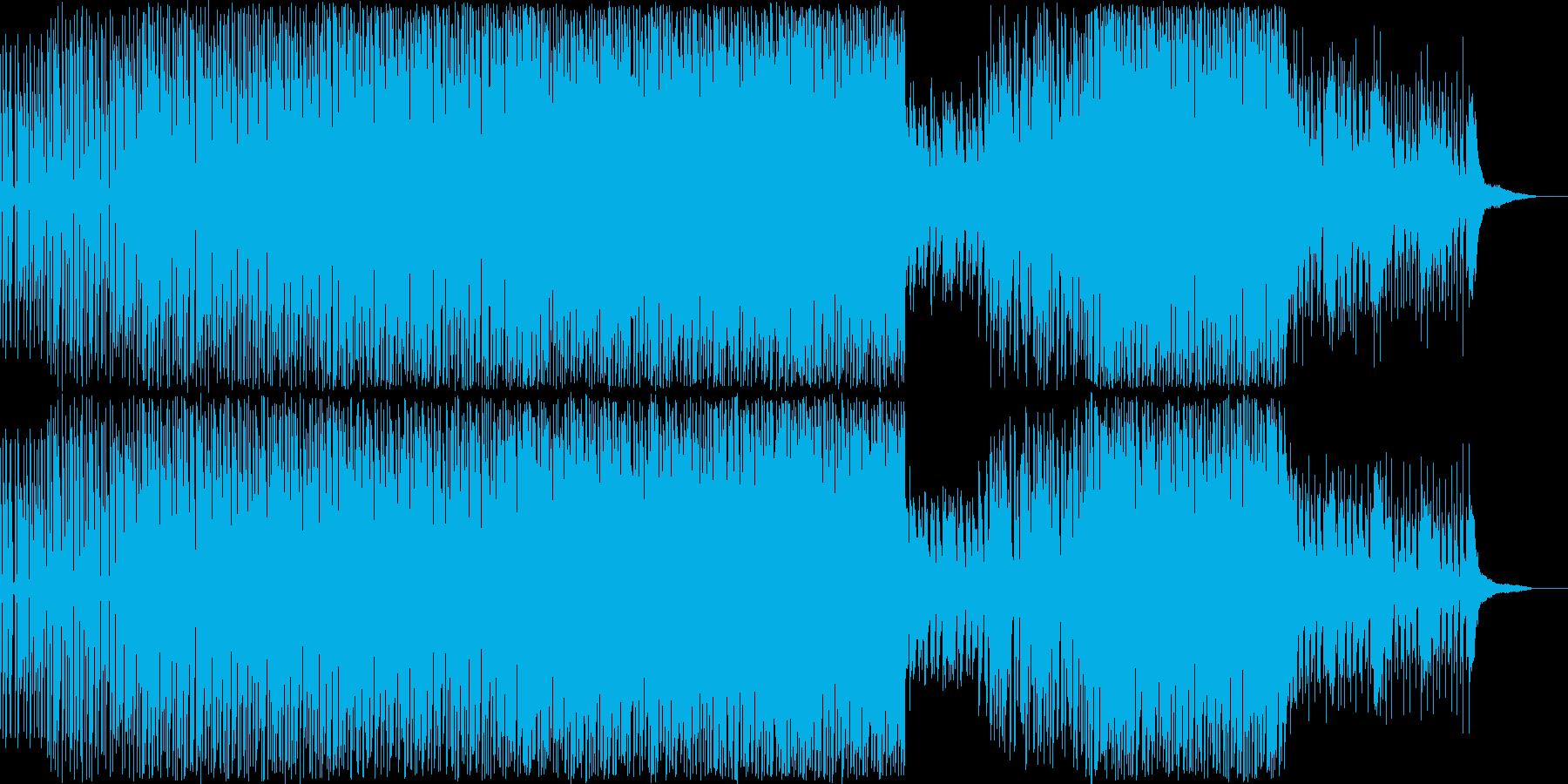スタイリッシュなテクノポップの再生済みの波形