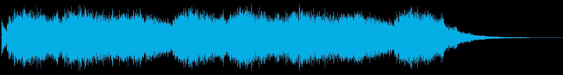 和風な1分間ほどのBGMの再生済みの波形