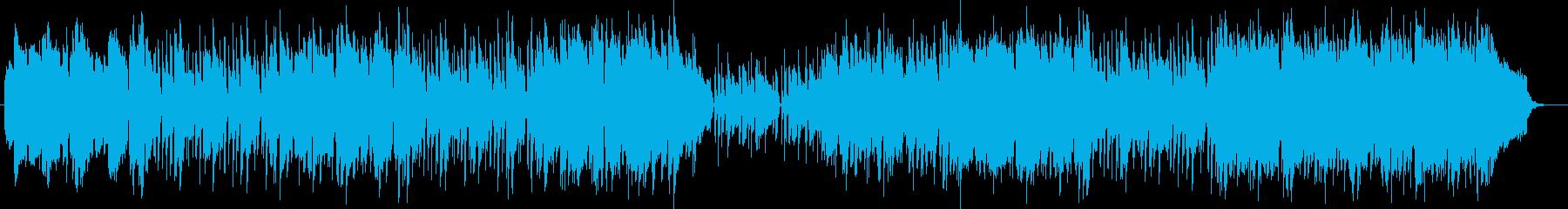 緩やかで可憐なピアノメロディーの再生済みの波形