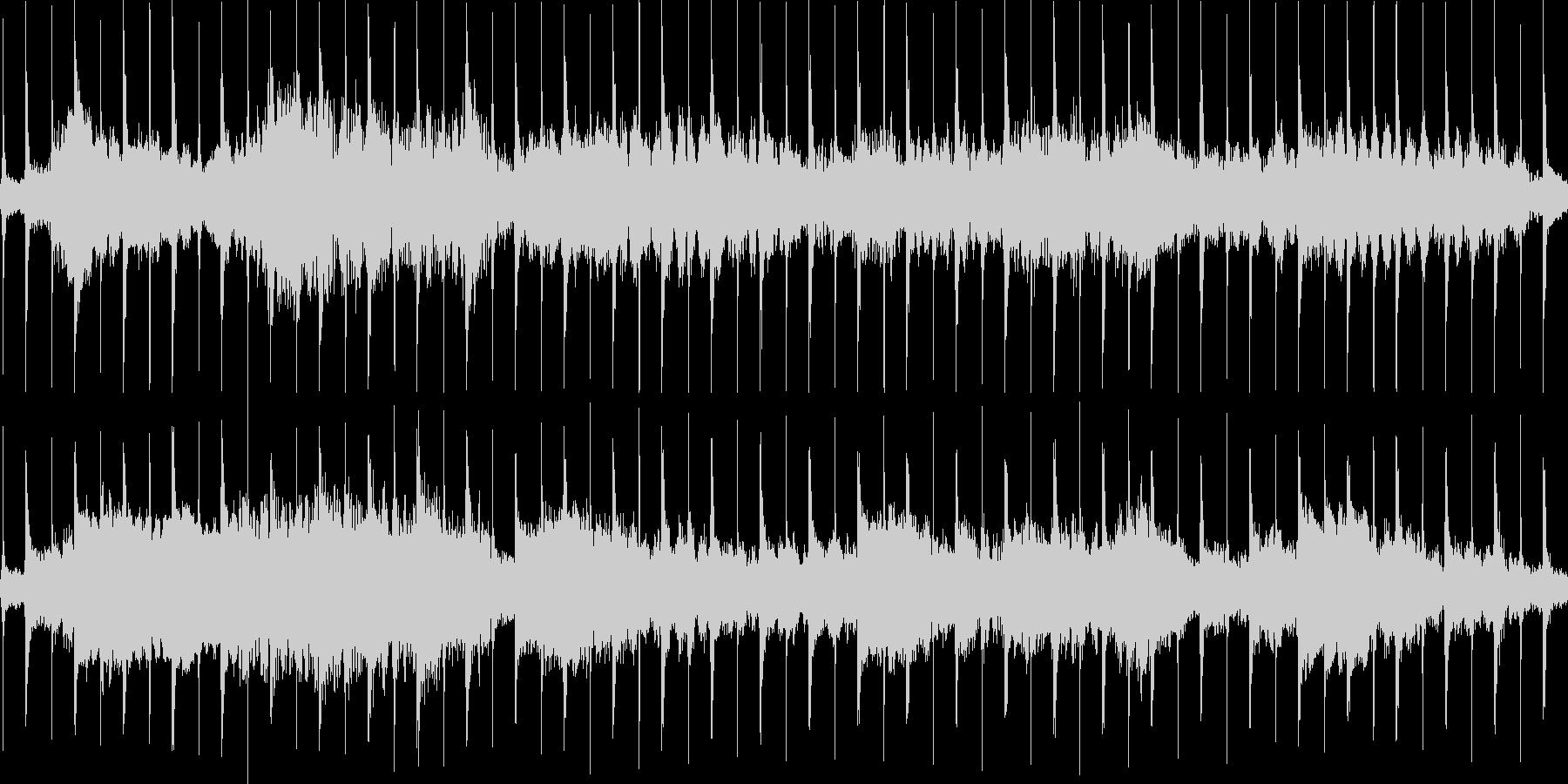 時計とリコーダーの不安定なループ用楽曲の未再生の波形