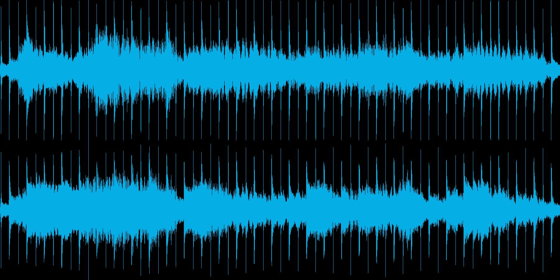 時計とリコーダーの不安定なループ用楽曲の再生済みの波形