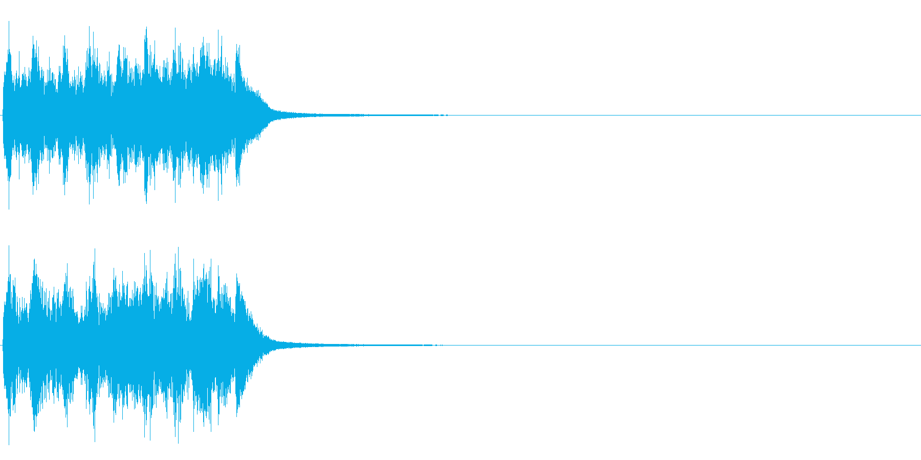 失敗etc  <コミカルな音~チーン>の再生済みの波形