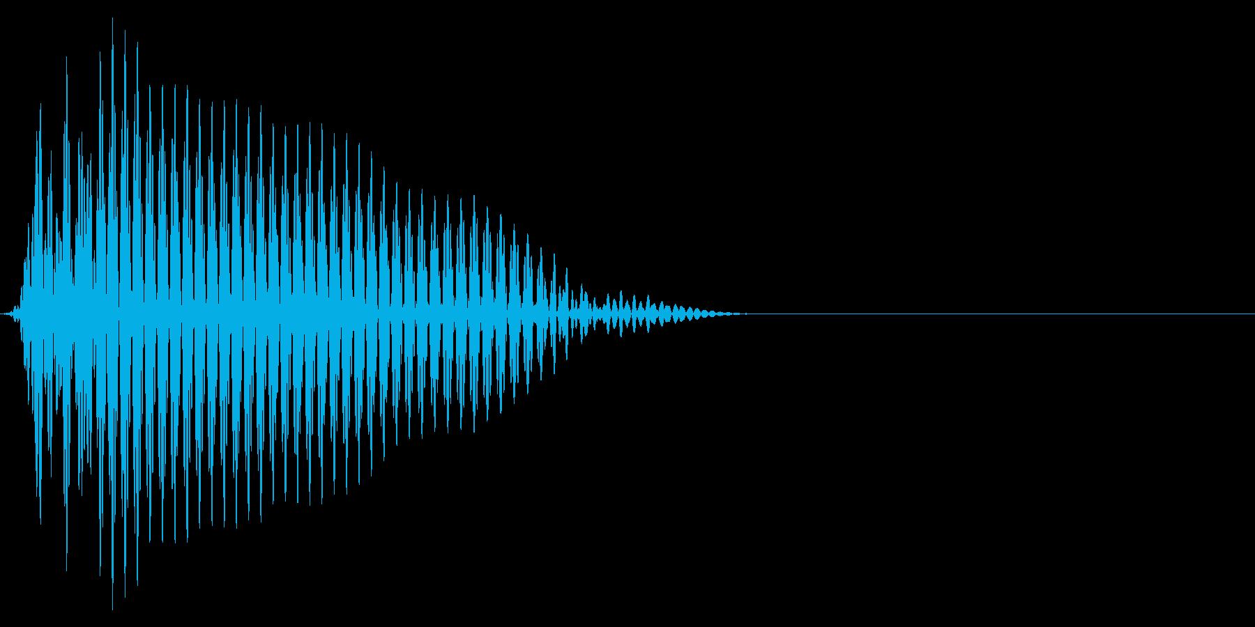 ゲーム掛け声ゾンビ1うめき3の再生済みの波形