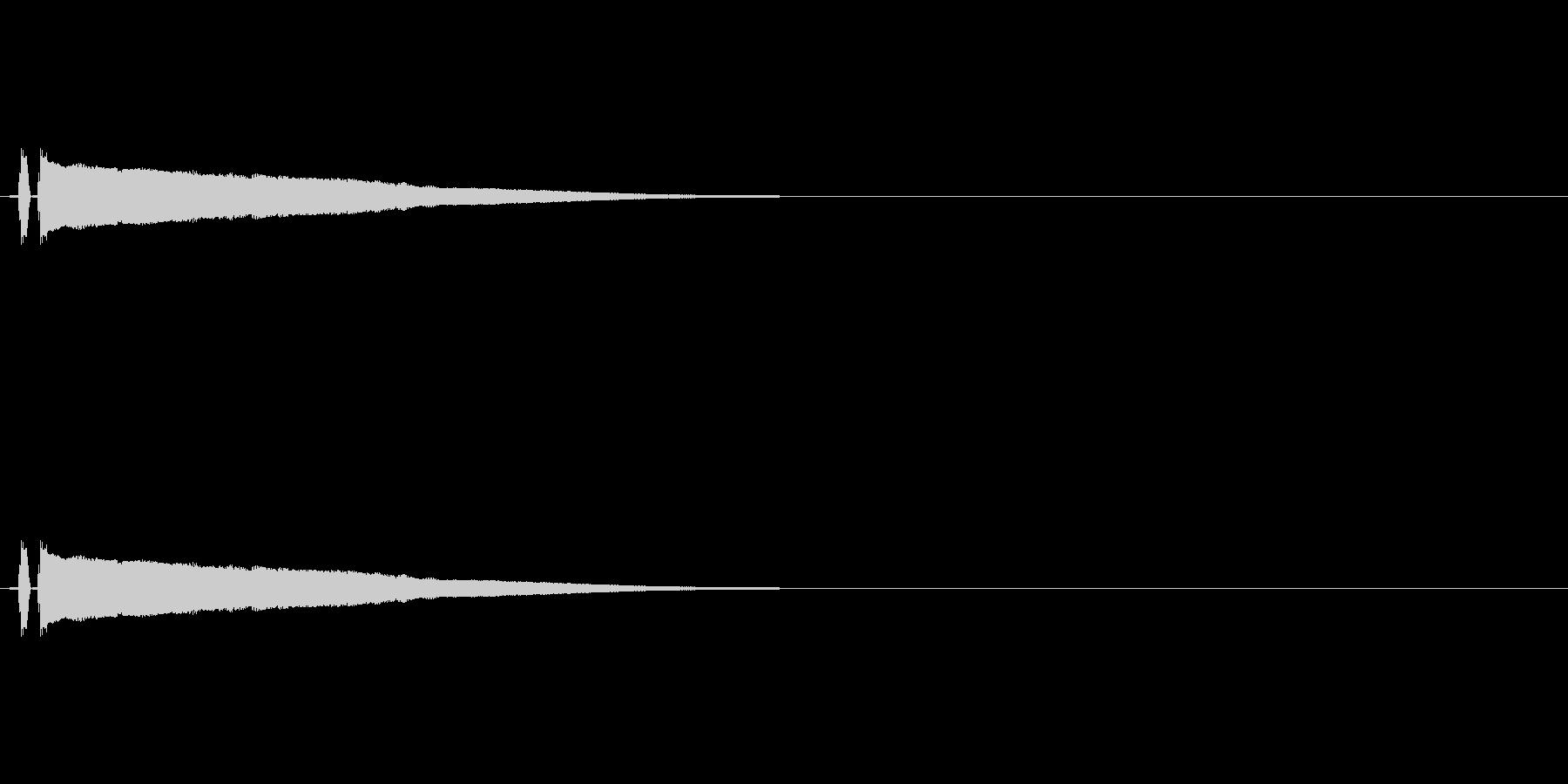 チューン(レーザーの音)の未再生の波形