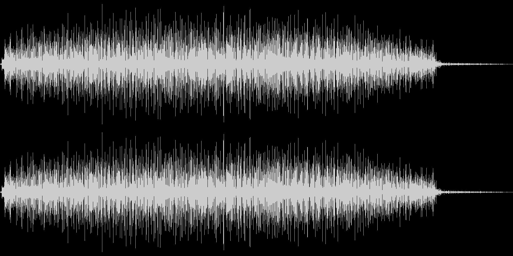 電子音のノイズですの未再生の波形
