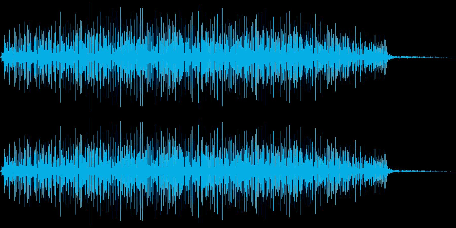 電子音のノイズですの再生済みの波形