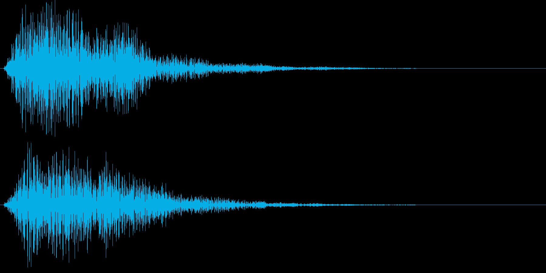 落ち着いたサウンドロゴの再生済みの波形