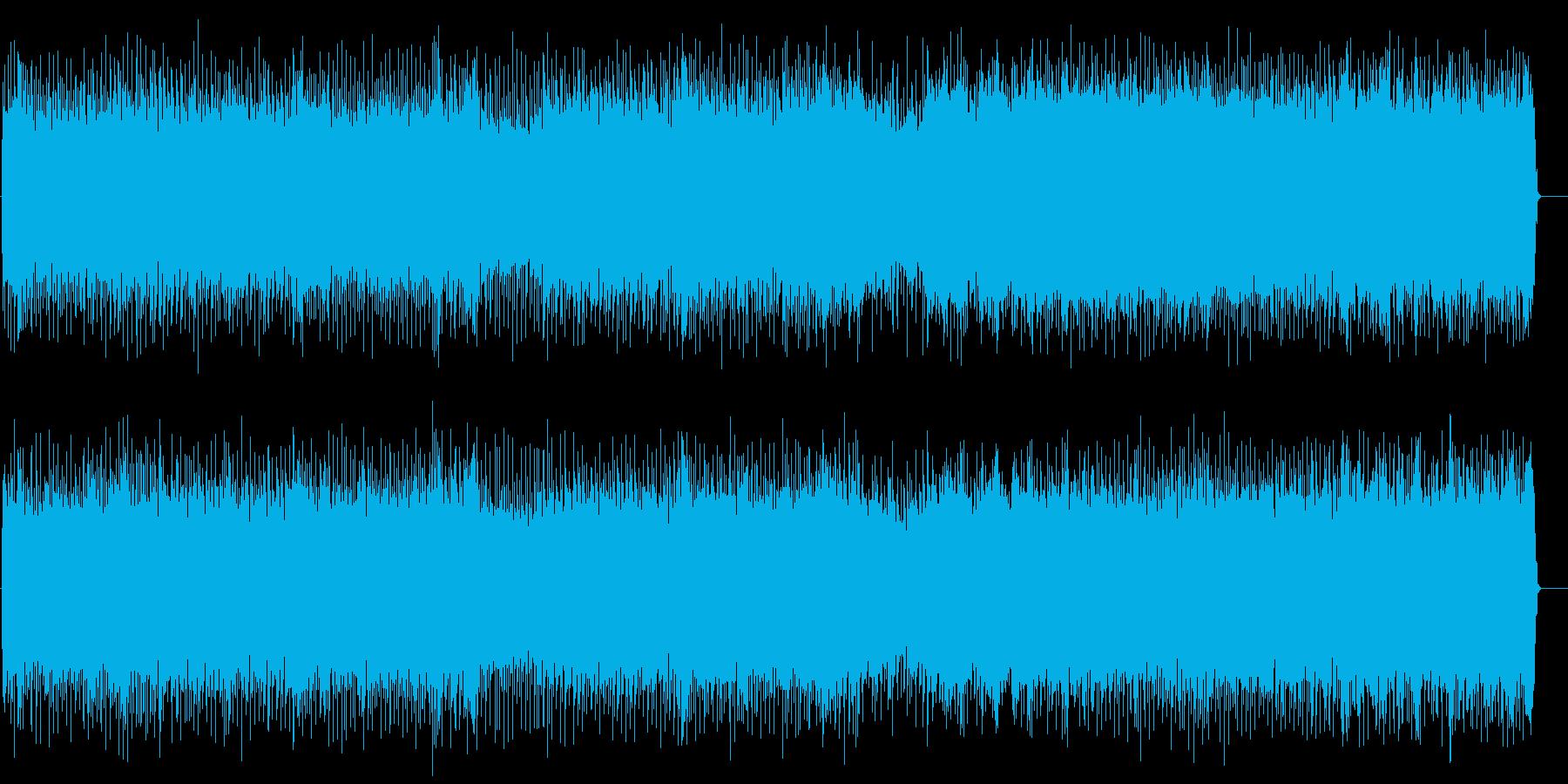 タイトなリズムのアメリカンハードロックの再生済みの波形