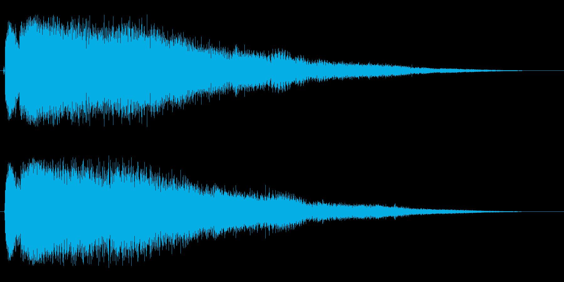 シャララ(細かい透明感のある効果音)の再生済みの波形