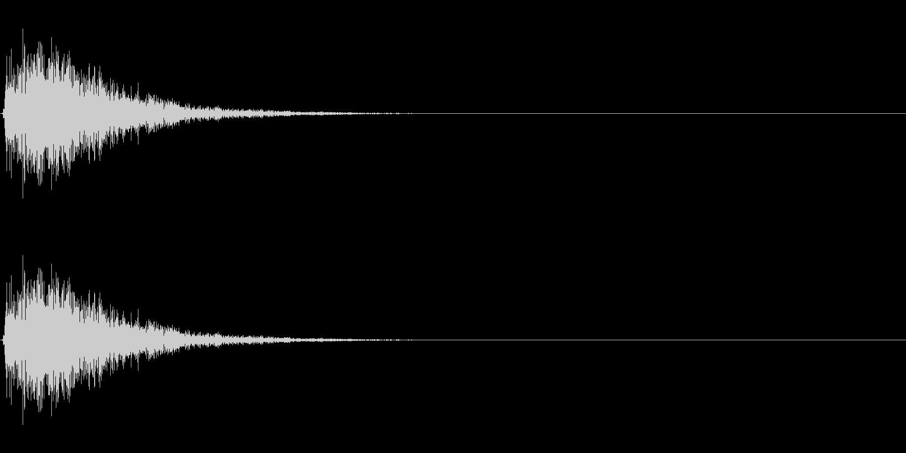 金属音2【カーン】の未再生の波形