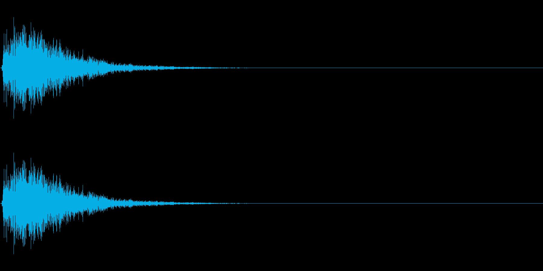 金属音2【カーン】の再生済みの波形