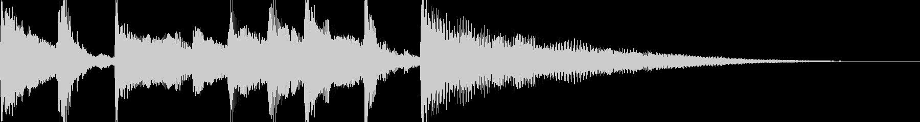朝のイメージのジングルの未再生の波形